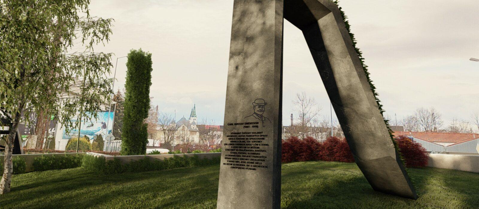 Carl Gustav Swensson Memorial in Žilina