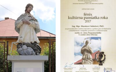 The original state of the statue and the Honourable recognition of the Ministry of Culture of Slovakia