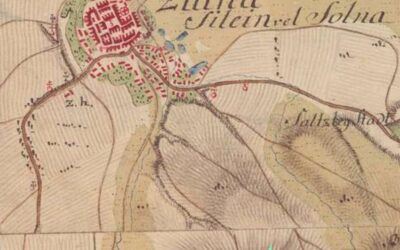Military map from the 18th century, a green arrow indicates the Chapel