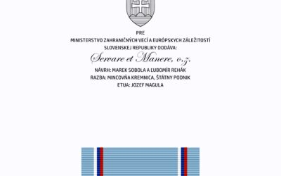Printing of the inner cushion of the decorative box (etui) and ribbon of the medal