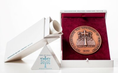 Tree of Peace Memorial Plaque with a decorative box (etui)